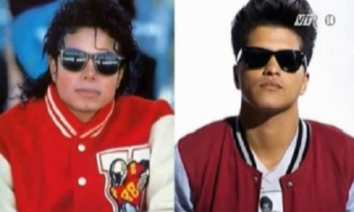 Ca si Bruno Mars la con roi cua Michael Jackson?