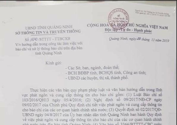 "Quang Ninh co dieu gi khuat tat ma ban hanh van ban ""de"" len Luat?"