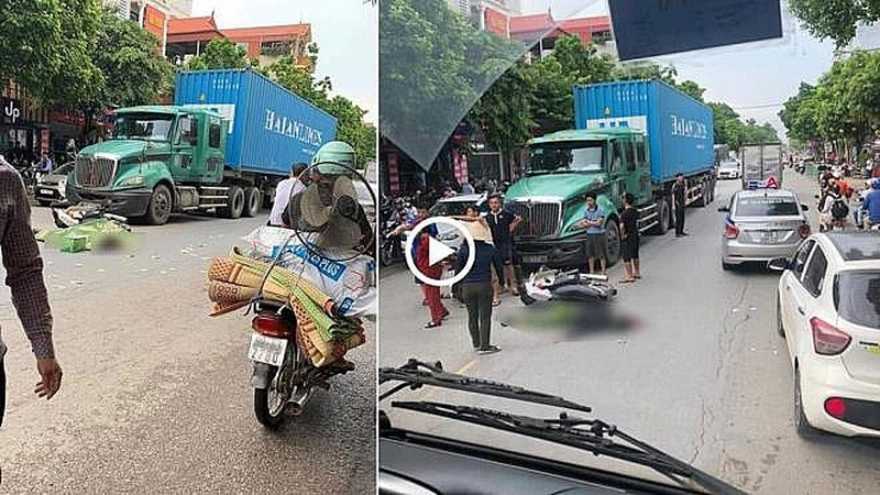 Danh tinh chien si cong an thiet mang khi va cham voi xe container