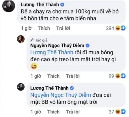 Thuy Diem them di bien, Luong The Thanh lap tuc tra loi man moi-Hinh-2