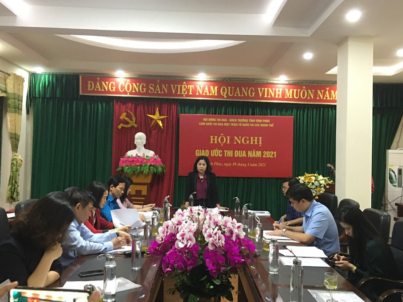 Vinh Phuc: Giao uoc thi dua Khoi Mat tran to quoc va cac doan the nam 2021
