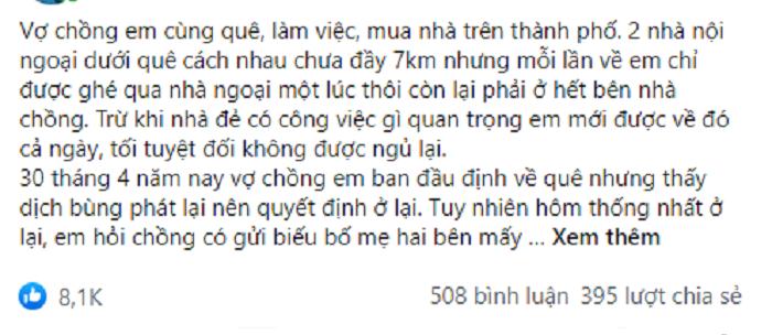 Biet chong len bieu bo me 10 trieu, vo than nhien lam dieu nay de lat nguoc tinh the