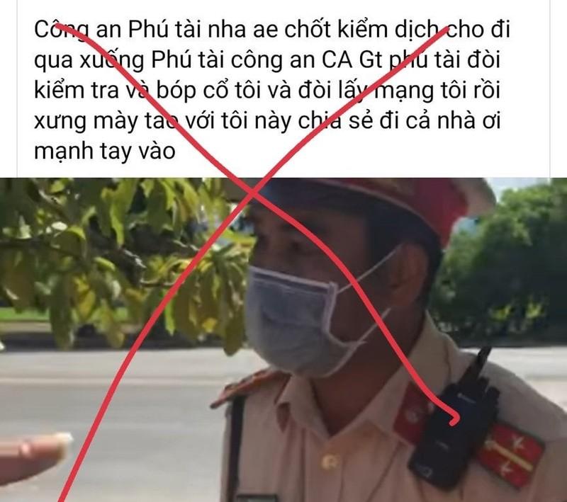 Binh Dinh: CSGT Tuy Phuoc len tieng ve clip tai xe to bi bop co