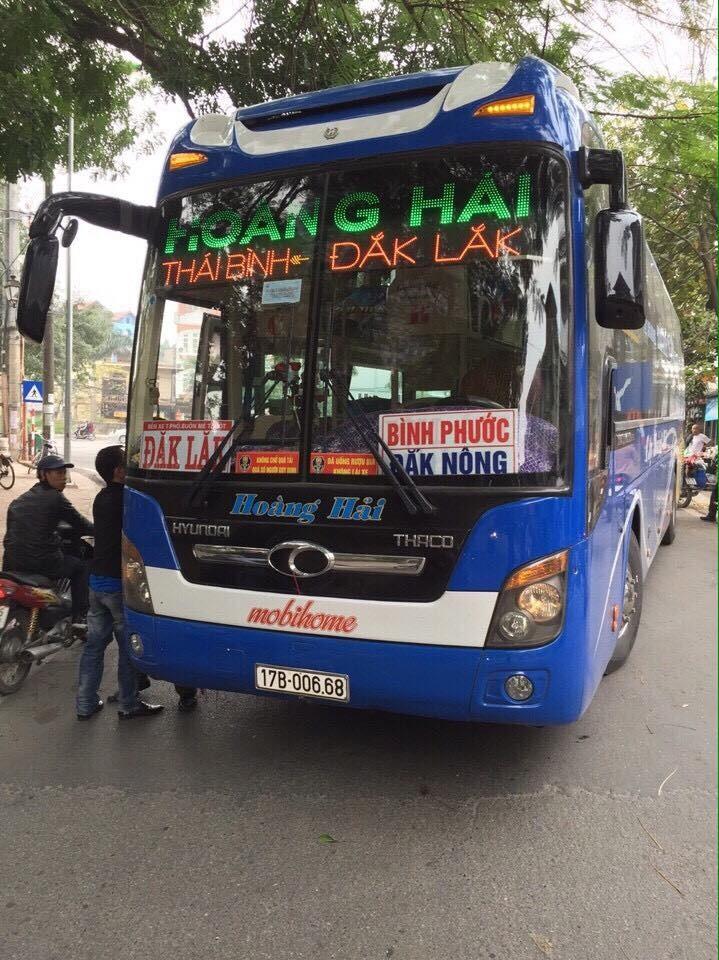 Vao thang ben xe Thai Binh, an cap o to khach 3 ty dong