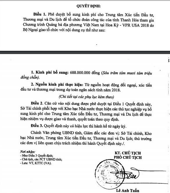 Vi sao UBND tinh Thanh Hoa chi duyet cho lanh dao di My 688 trieu?-Hinh-2