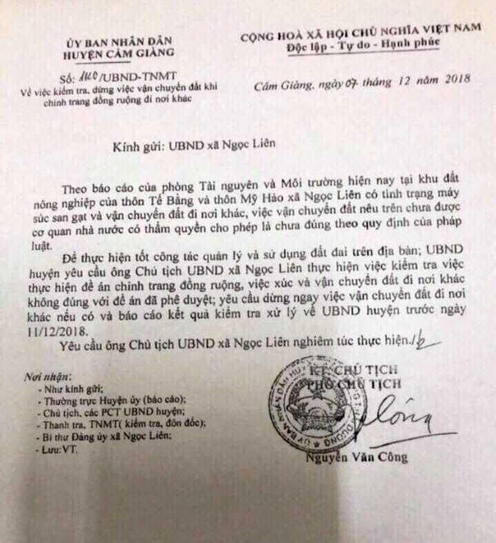 Loi dung don dien, doi thua khai thac dat trai phep: UBND huyen Cam Giang vao cuoc-Hinh-3