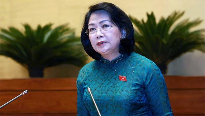 Pho chu tich nuoc thay Chu tich nuoc Nguyen Phu Trong trinh Quoc hoi Cong uoc 98