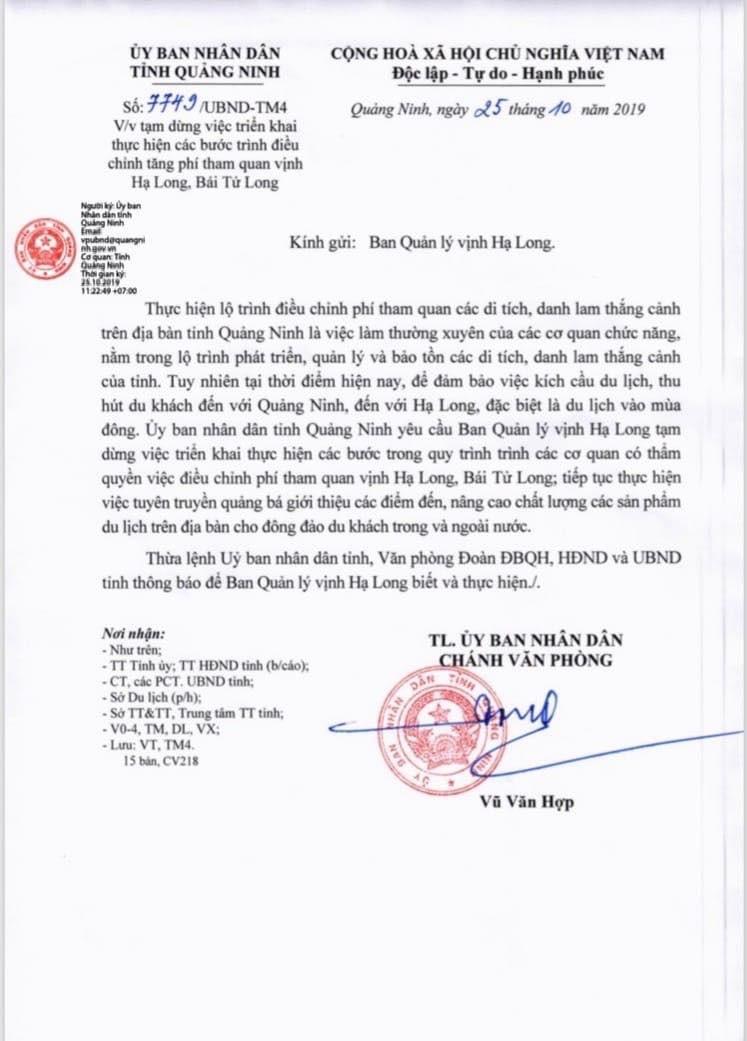 Tang gia ve tham quan vinh Ha Long: Doanh nghiep phan ung, Quang Ninh chi dao dung-Hinh-2