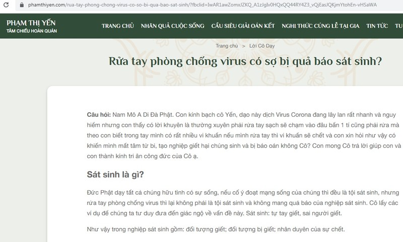 Website ba Pham Thi Yen gay soc voi cau hoi: