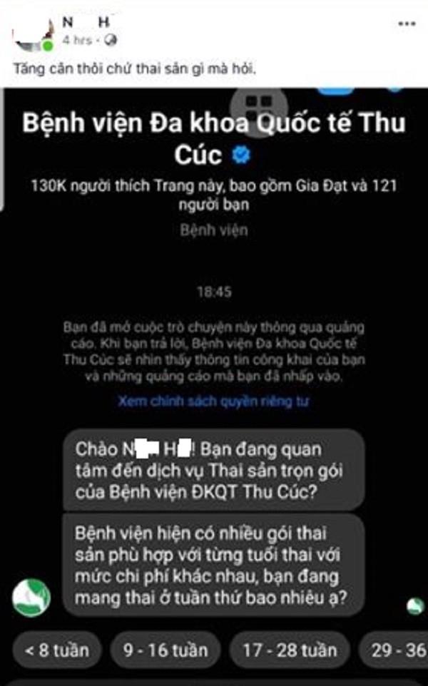 """Benh vien Thu Cuc """"tiep thi"""" keo khach toi noi moi khach nam goi thai san?"""