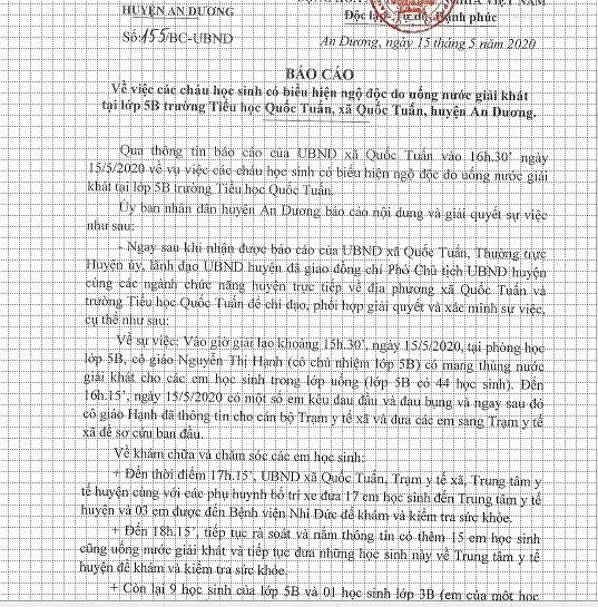 Hoc sinh Hai Phong co bieu hien ngo doc khi uong nuoc ngot: Cong an vao cuoc-Hinh-2