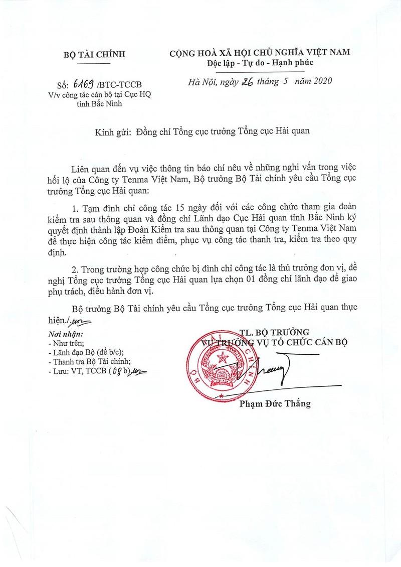 Nghi an hoi lo Tenma Viet Nam: Tam dinh chi cong chuc thue, hai quan-Hinh-2