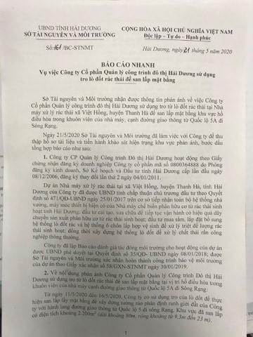 Cty Cong trinh do thi Hai Duong dung tro lo dot rac san lap mat bang la vi pham-Hinh-6