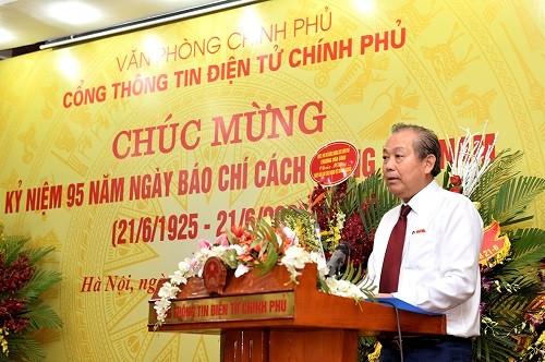 """Pho Thu tuong Truong Hoa Binh: Bao chi phai """"pho chinh, diet ta"""", lan toa nang luong tich cuc trong xa hoi"""