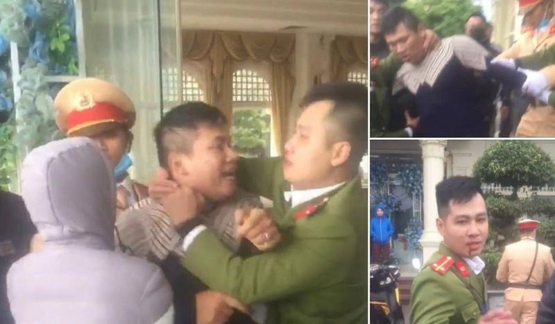 Vi pham giao thong con dam trung uy cong an Hai Phong