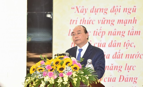 "Thu tuong Nguyen Xuan Phuc: ""Lien hiep cac Hoi KH&KT Viet Nam luon khang dinh duoc vi tri, vai tro quan trong"""