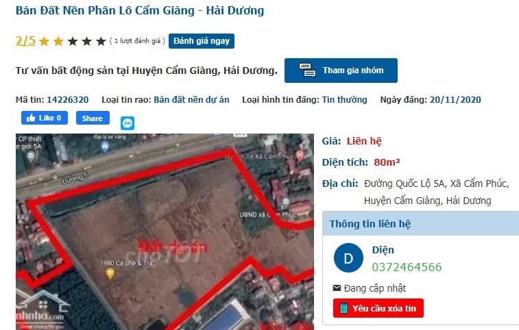 """Du an KDC thuong mai Cam Phuc dang thi cong, """"co"""" ram ro... rao ban-Hinh-2"""