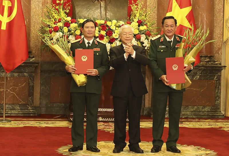 2 Thu truong Bo Quoc phong duoc thang quan ham Thuong tuong