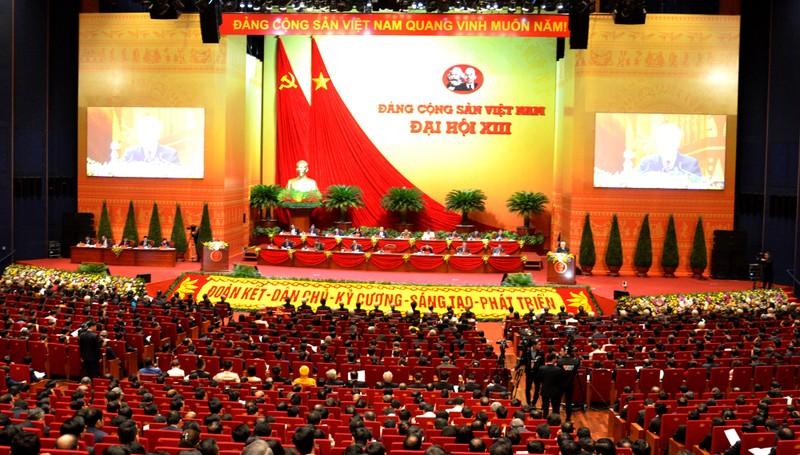 Dai hoi Dang lan thu XIII: 215 chinh dang, to chuc va ban be quoc te da gui dien, thu chuc mung