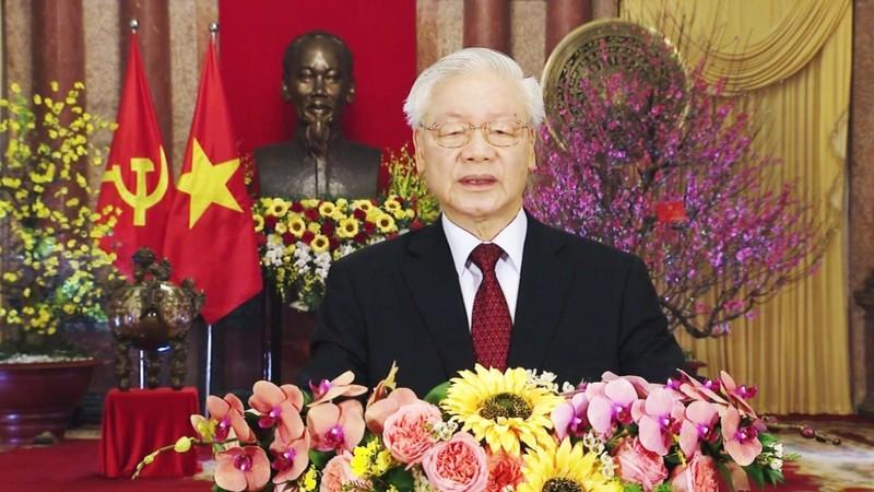 Tong Bi thu, Chu tich nuoc Nguyen Phu Trong chuc Tet Tan Suu 2021