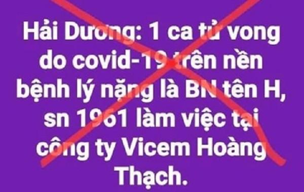 Bac tin don ca nhiem o Cong ty Xi mang Hoang Thach tu vong