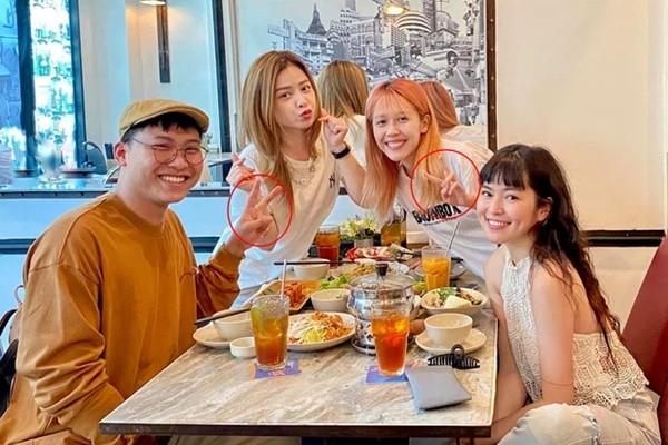 Mui truong Long xuat hien cung chi em 'Sao Nhap Ngu', fans soi chi tiet giong Hau Hoang-Hinh-4