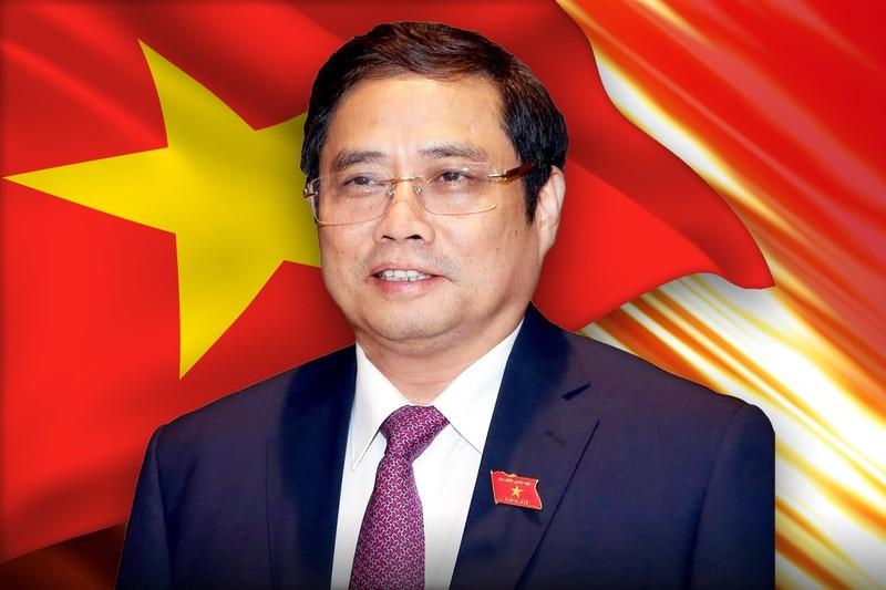 Thu tuong Pham Minh Chinh va 14 thanh vien Chinh phu ung cu DBQH