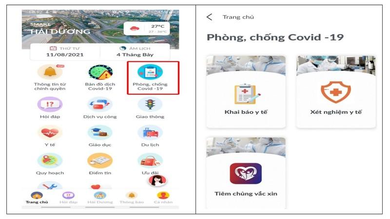 Ung dung Smart Hai Duong giup nguoi dan phong COVID-19 the nao?