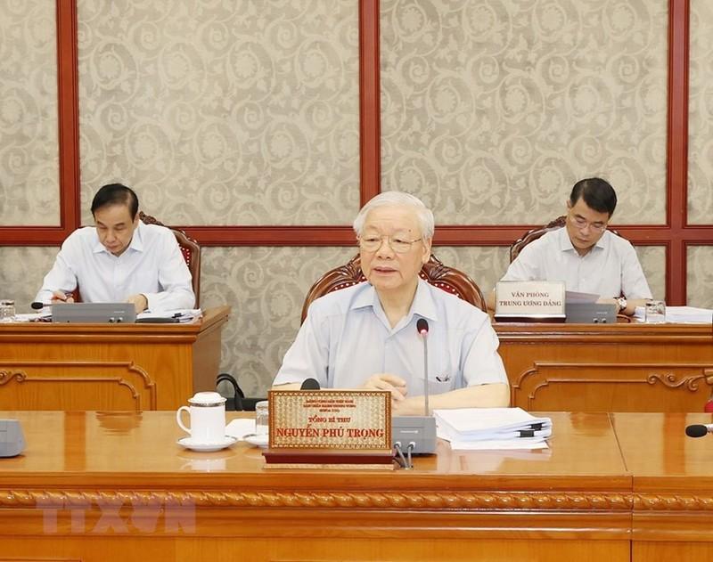 """Tong Bi thu Nguyen Phu Trong: """"Tham nhung, suy thoai tu tuong deu la…tieu cuc"""""""
