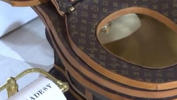Bon cau ma vang, boc vai hang hieu Louis Vuitton gay soc-Hinh-4