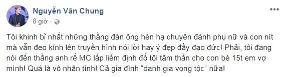 BTV Minh Tiep bi to bao hanh em vo: Sao Viet buc xuc len tieng-Hinh-3