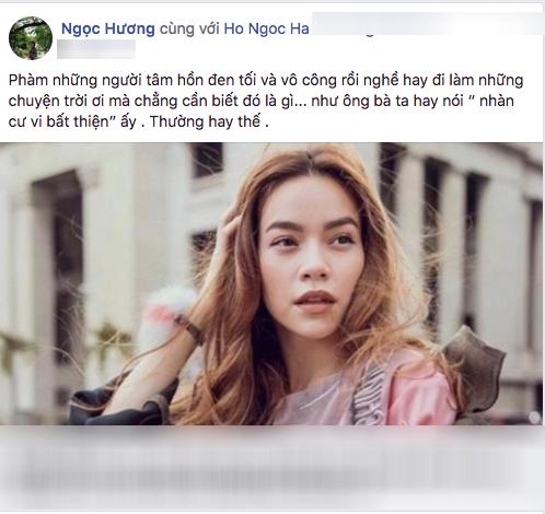 Bi anti-fan cong kich, Ho Ngoc Ha duoc me ra suc bao ve