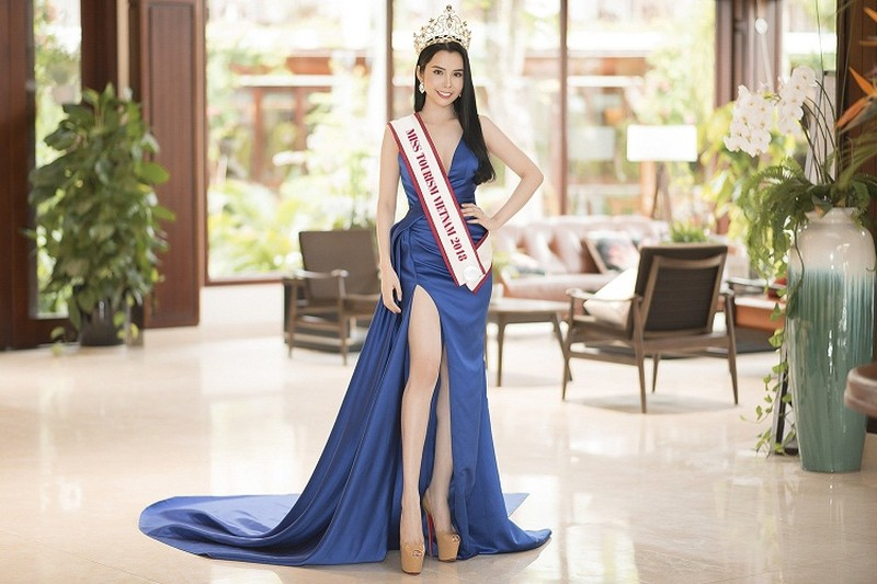 "My nhan co ""vong eo than thanh"" thi Miss Tourism Queen Worldwide 2018"