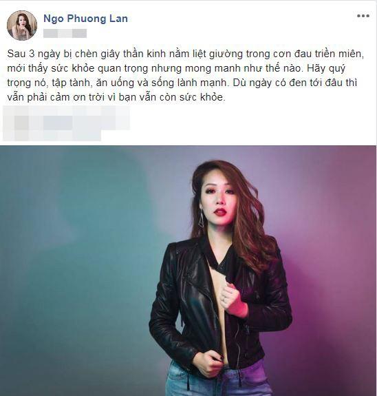 Hoa hau Ngo Phuong Lan bi chen giay than kinh nam liet giuong