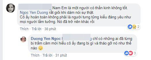 "Duong Yen Ngoc: ""Nam Em bi tram cam, khong dieu tri se tam than""-Hinh-3"