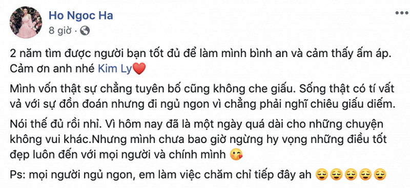 Ho Ngoc Ha - Kim Ly ky niem hai nam yeu nhau, fan giuc cuoi-Hinh-3