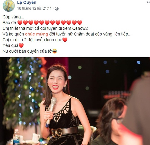 Le Quyen moi U22 Viet Nam den xem liveshow 30 ty: Moi that hay PR?