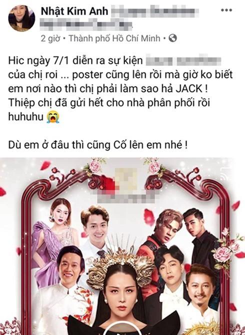 Nhat Kim Anh huy show voi K-ICM yeu cau quan ly den hop dong vi khong co Jack