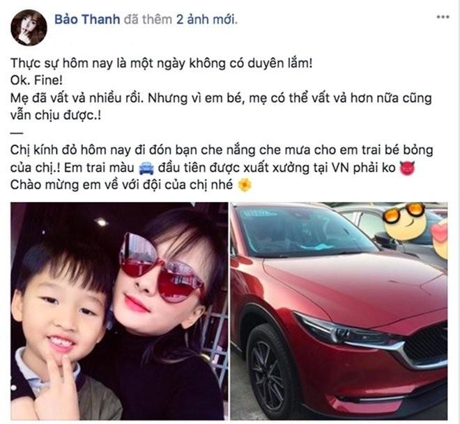 """Vua duoc chong mua nha, Bao Thanh voi tang xe, dong nghiep sung sot: """"Giau qua""""-Hinh-5"""