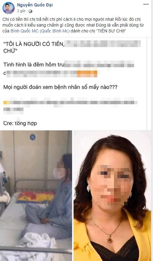 Xuan Lan, Van Mai Huong buc xuc doi trung phat benh nhan 34 nhiem Covid-19-Hinh-5