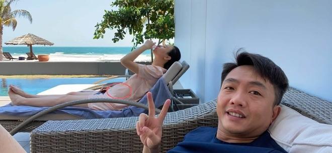 Cuong Do La dang anh Dam Thu Trang vong 2 lum lum, fan ran ran chuc mung