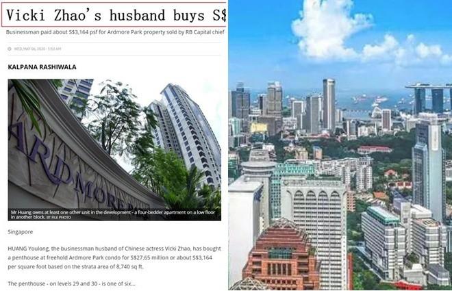 Vo chong Trieu Vy mua nha gan 20 trieu USD o Singapore