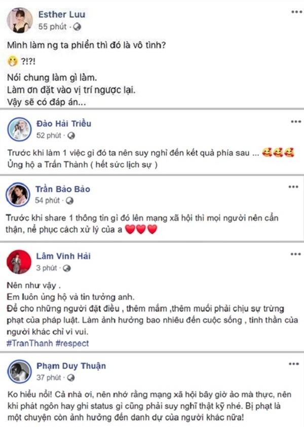 Sao Viet ung ho Tran Thanh xu ly manh tay ke tung tin