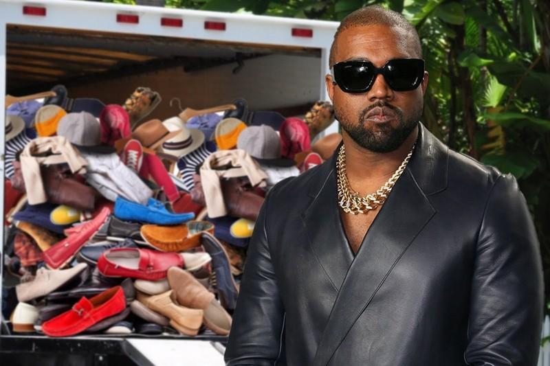 Kanye West mang theo 500 doi giay roi khoi nha Kim Kardashian