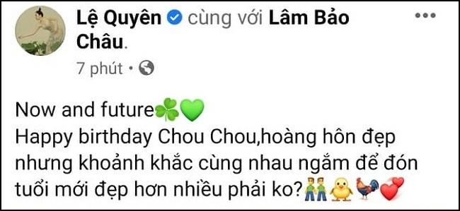 Le Quyen mung sinh nhat tinh tre, nghe la biet yeu me met