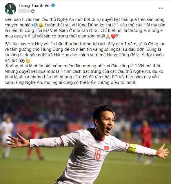 MC Thanh Trung bi to phan biet vung mien khi noi vu Hung Dung