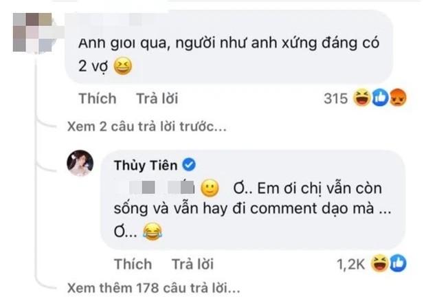 Cong Vinh bi xui co 2 vo, Thuy Tien phan ung