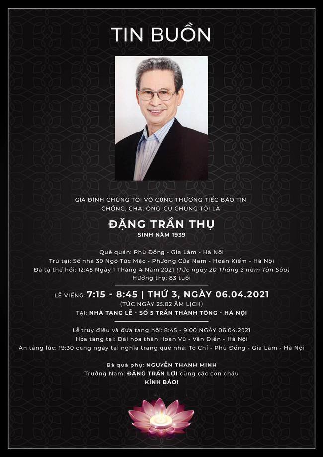 """Dien vien phim """"Chu tich tinh"""" - nghe si Dang Tran Thu qua doi"""