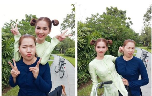 Ngoc Trinh tang xe tien ty cho giup viec Thuy Kieu dung 1/5-Hinh-9