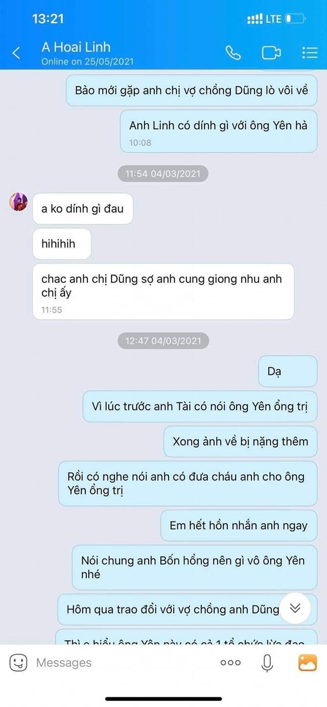 Xuat hien tin nhan Hoai Linh noi ve quan he voi ong Vo Hoang Yen